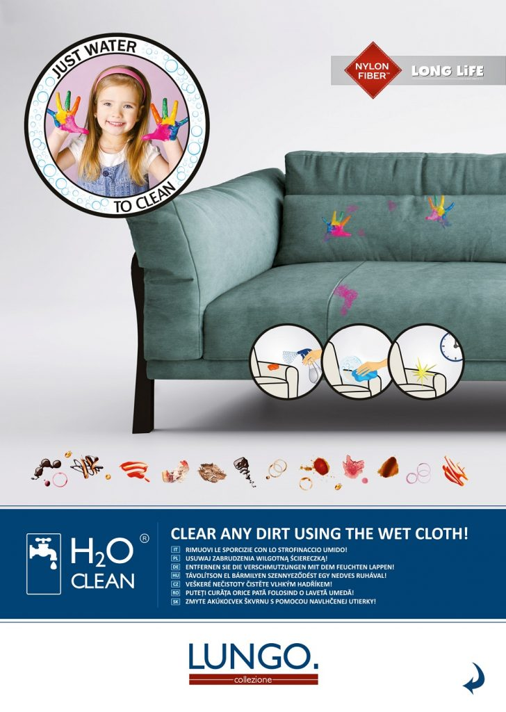 LUNGO, vízzel tisztítható bútorszövet kollekció